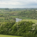 Boyne River valley from atop Cairn at Knowth