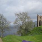 Castle, Loch Ness & rainbow