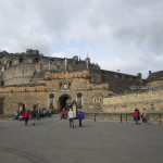 Edinburgh Castle From Parage Ground