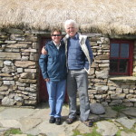 Mairtin & Me in front of Dan O'Hara's homestead