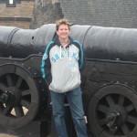 Me next to Mons Meg - Castle