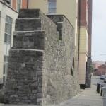 Part of Dublin city wall