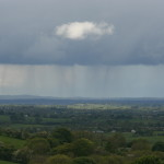 Rainstorm over Loughcrew